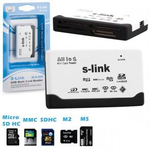 S-LINK SLX-A62 USB HARİCİ TF+M2 KART OKUYUCU ÇOKLU