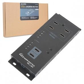 POWERMASTER PM-16247 4X2 ULTRA HDMI 4KX2K@30HZ MATRIX SWITCH (4 CİHAZ GİRİŞ / 2 LCD ÇIKIŞ)
