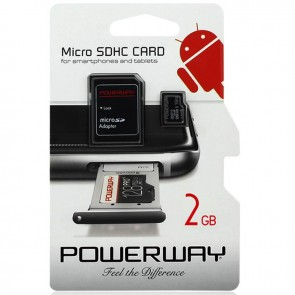 SAMSUNG EVO PLUS 2GB MICRO SD HAFIZA KARTI (CLASS 10) POWERWAY PWR-2