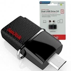 SANDISK 16 GB USB 3.0 ULTRA DUAL DRİVE OTG FLASH BELLEK SDDD2