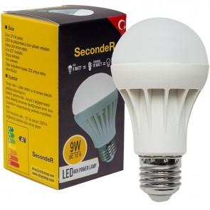SECONDER E27 9 WATT 12 VOLT LED SOLAR AMPUL BEYAZ