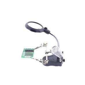 Mate MG16126-A Ledli Büyüteç ve Havya Standı Yardımcı El Pcb Tutucu