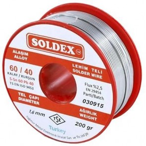 Soldex 1,60Mm 200Gr Lehim 60/40