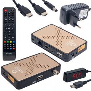 SUNGATE VIPBOX GOLD XL IP TV FULL HD MİNİ UYDU ALICISI (1 YIL SERVER HEDİYELİ) YÜKLÜ