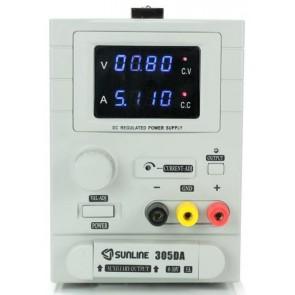 Sunline 305DA Ayarlı DC Güç Kaynağı 0-30V / 5A Power Supply 4Hane
