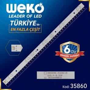 SW40D09L-ZC21AG-01 - 5S1P - 303SW400032 - L TYPE - 40.8 CM 5 LEDLİ - (WK-1322)