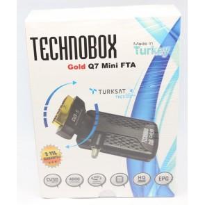 Technobox Gold Q7 Mini Scart Tipi Uydu Alıcı Tkgs li