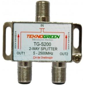 TeknoGreen 5-2500Mhz 1 İn 2Out Splitter