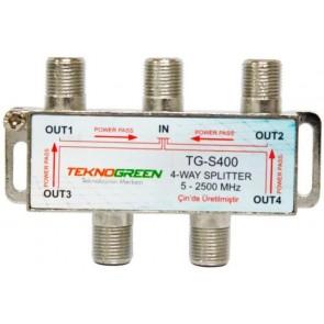 TeknoGreen 5 - 2500Mhz 1 İn 4 Out Splitter