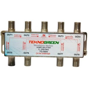 TeknoGreen 5 - 2500Mhz 1 İn 8 Out Splitter