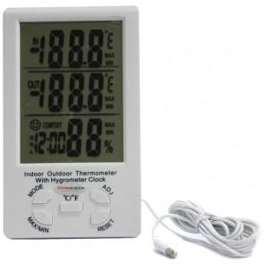TeknoGreen Dijital Termometre Nem ve Sıcaklık Ölçer İç ve Dış