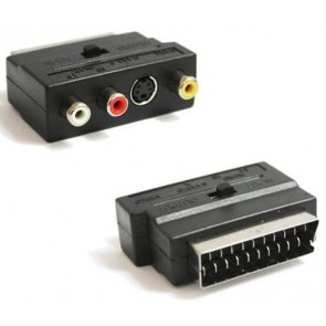 TeknoGreen Scart To Rca  In-Out  Switch Ve S-Video