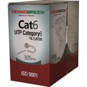 TeknoGreen TK-CAT06 305m CAT6 0,57mm Kablo Turuncu 1512012