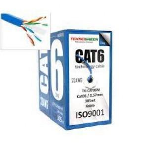TeknoGreen TK-CAT06 305mt CAT6 0,57mm Kablo Mavi