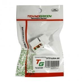 TeknoGreen TK-CAT06K Cat6 Keystone Soket (10'lu Paket)