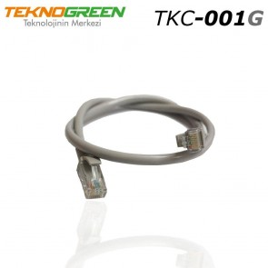 TeknoGreen TKC-001G 1m Cat6 Ethernet Kablosu Gri