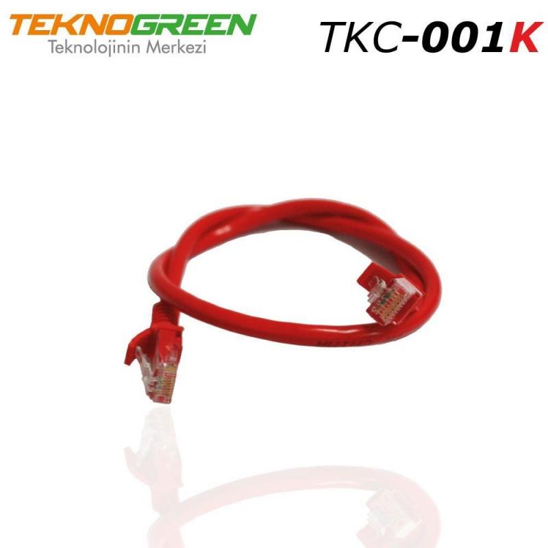 TeknoGreen TKC-001K 1m Cat6 Ethernet Kablosu Kırmızı