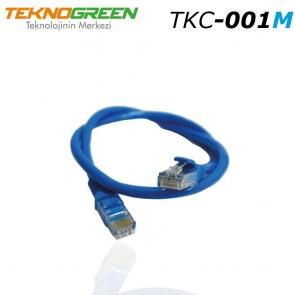 TeknoGreen TKC-001M 1m Cat 6 Ethernet Kablosu Mavi