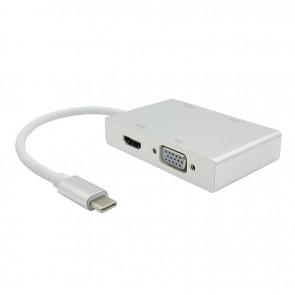 TeknoGreen TKD-866 Type C to HDMI+DVI+VGA+USB Dönüştürücü