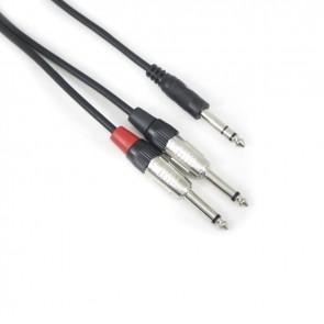 TeknoGreen TKS-701 6.3mm Stereo 2×6.3mm Mono Kablo 1 mt