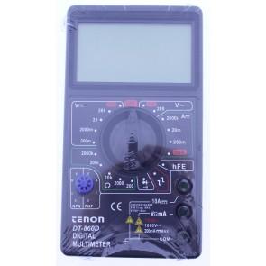 Tenon DT-860D Dijital Multimetre Ölçü Aleti Büyük Geniş Ekran Siyah