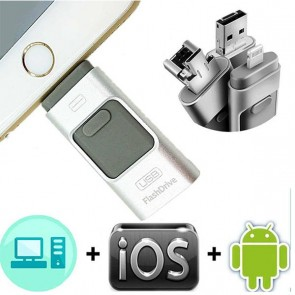 USB STORER 8GB IPHONE OTG FLASH BELLEK *  IOS/ANDROID/WINDOWS MOBILE