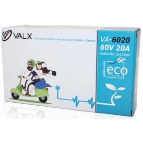 Valx 60V 20A Ekobis Akü Şarj Cihazı ( Süper Hızlı Şarj )