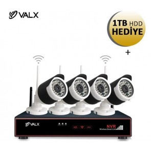 Valx Vhc-3010 3.6Mm 1Unit Of 4Ch 1080P Wi-Finvrset
