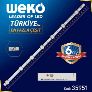 VESTEL 50 DRT UHD B-TYPE REV00 7 LEDLİ  45.4 CM