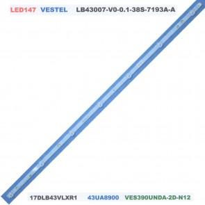 VESTEL LB43007-V0-01-38S-7193A-A 17DLB43VLXR1 43UA8900 Tv Led Bar