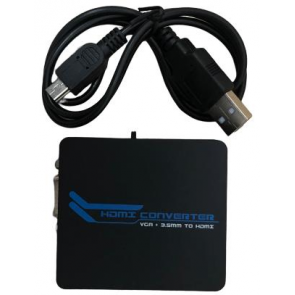 Vga To Hdmı + Stereo Converter Dönüştürücü Çevirici Adaptör A/V Mini