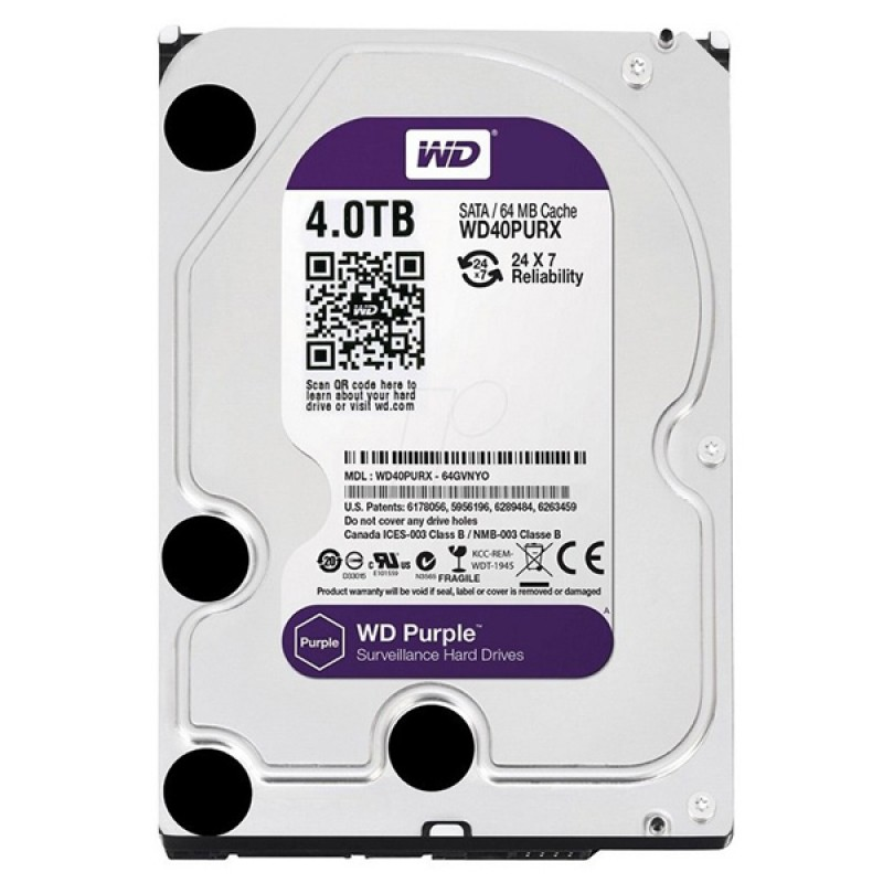 WESTERN DIGITAL PURPLE WD40PURZ 4 TB SATA 6GB/S 7/24 GÜVENLİK HARDDISK