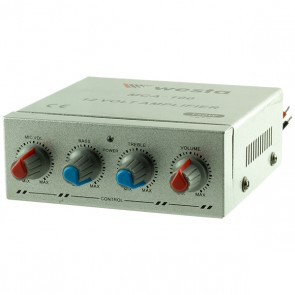 WESTA MCA-100 MİNİ-12VOLT PAZARCI ANFİSİ (4 OHM-150W)