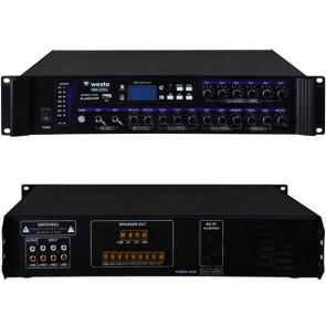 WESTA WM-2250U 250 WATT 100 VOLT USB/MP3/BLUETOOTH 6 BÖLGELİ TRAFOLU MIXER ANFİ