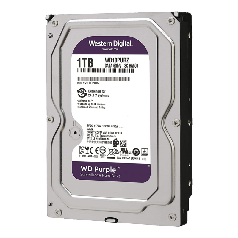 WESTERN DIGITAL PURPLE WD10PURZ 1 TB SATA 6GB/S 7/24 GÜVENLİK HARDDISK