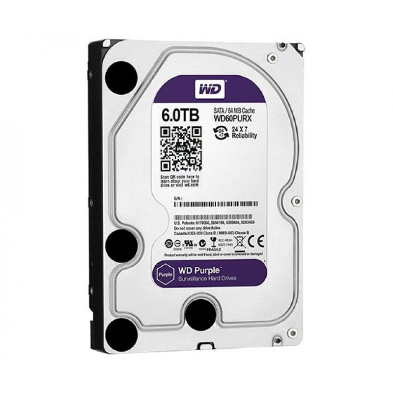 WESTERN DIGITAL PURPLE WD60PURZ 6 TB SATA 6GB/S 7/24 GÜVENLİK HARDDISK