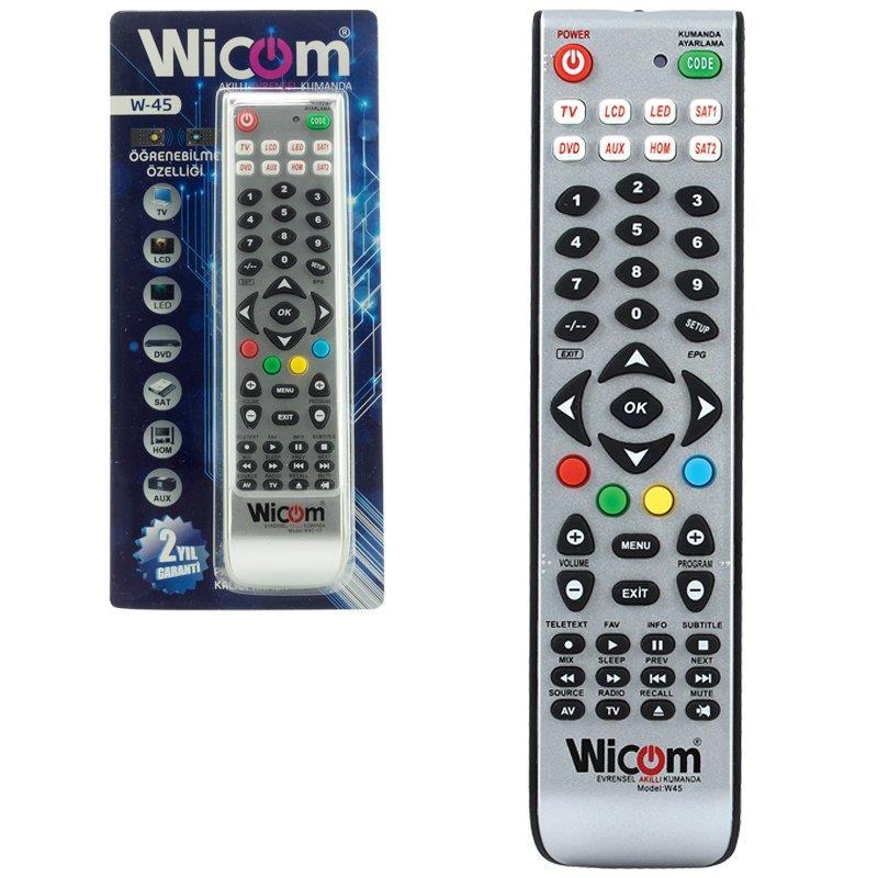 Wicom W45 v3 Öğrenebilen Akıllı Kumanda Kalıcı Hafıza 8in1
