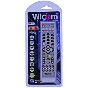 Wicom W45 V4 Öğrenebilen Akıllı Kumanda Kalıcı Hafıza 8in1 Netflix